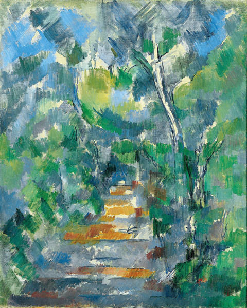 Painting - Forest Scene by Paul Cezanne