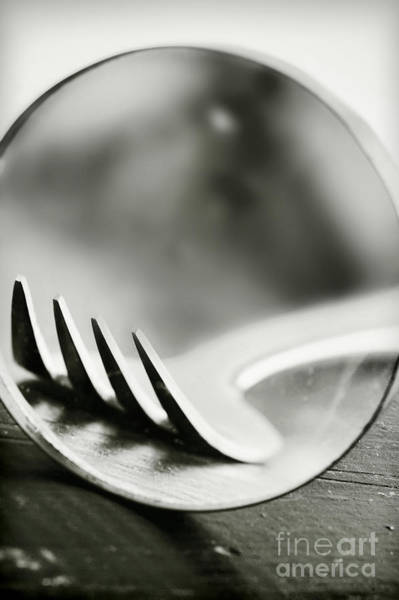 Silverware Photograph - Fork by HD Connelly