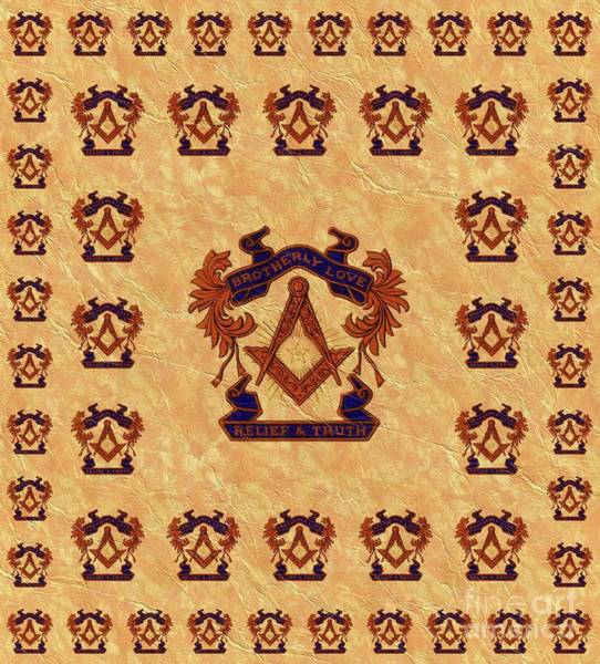 Masonic Wall Art - Painting - Freemason, Masonic, Symbols by Pierre Blanchard