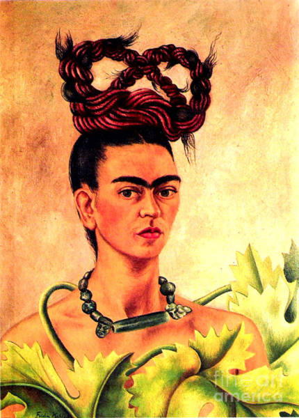 Frida Painting - Frida Kahlo Self Portrait by Pg Reproductions