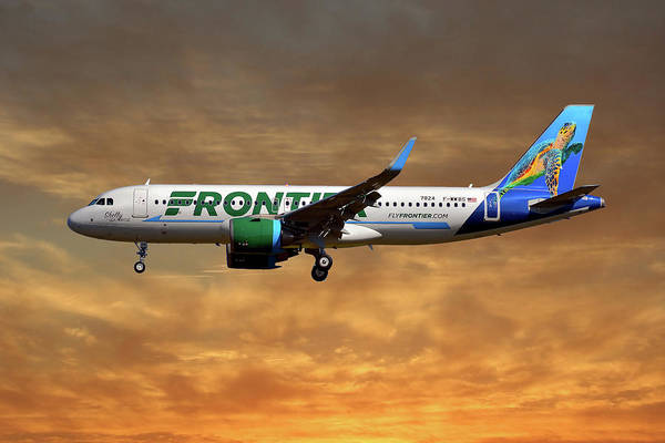 Frontier Photograph - Frontier Airbus A320-251n by Smart Aviation