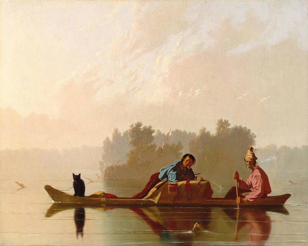 Painting - Fur Traders Descending The Missouri by George Caleb Bingham