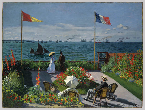 Wall Art - Painting - Garden At Sainte Adresse by Claude Monet