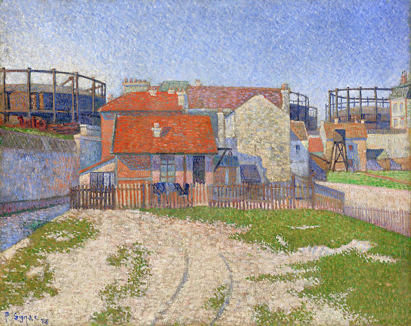 Full Bloom Painting - Gasometers At Clichy by Paul Signac