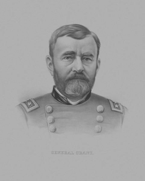 Civil War Wall Art - Drawing - General Grant - Two by War Is Hell Store