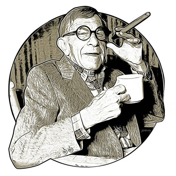 Burned Wall Art - Drawing - George Burns by Greg Joens