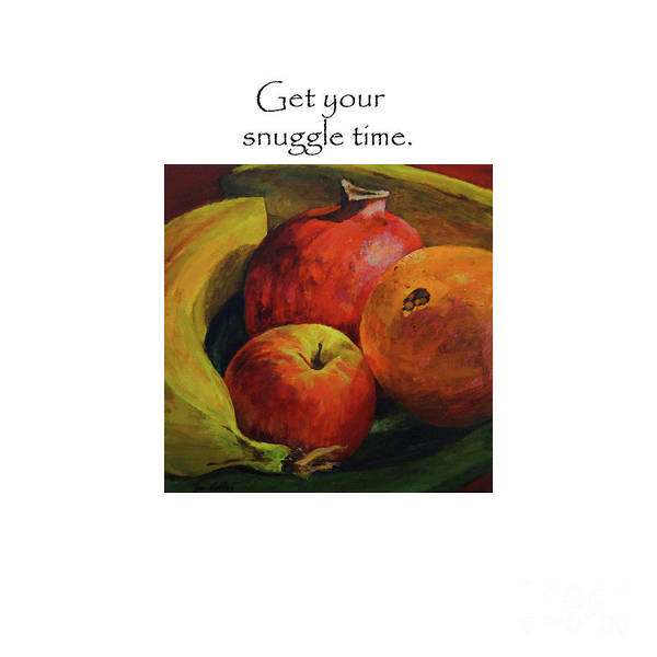 Painting - Get Your Snuggle Time Title On Top by Joan Coffey