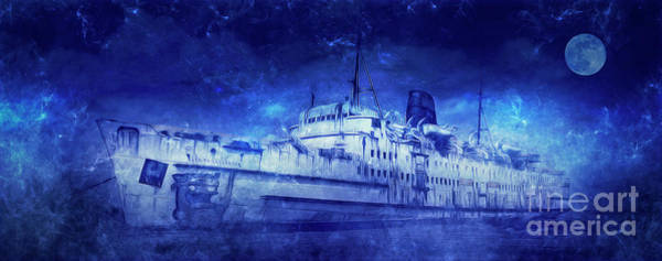 Sailboat Mixed Media - Ghost Ship by Ian Mitchell