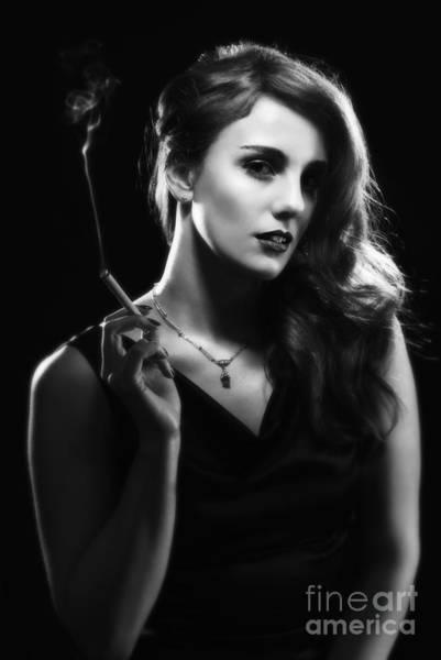 Hollywood Star Photograph - Glamorous Hollywood Style Woman by Amanda Elwell