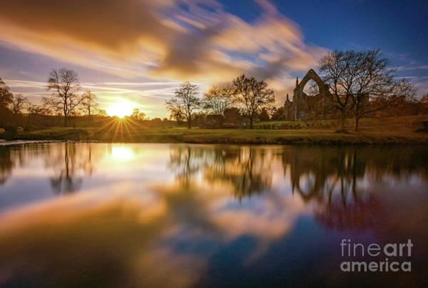 Photograph - Golden Hour By The River Wharfe by Mariusz Talarek