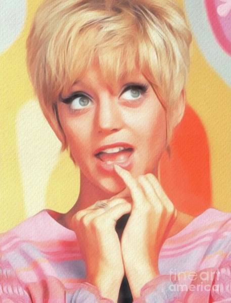 Wall Art - Painting - Goldie Hawn, Actress by John Springfield