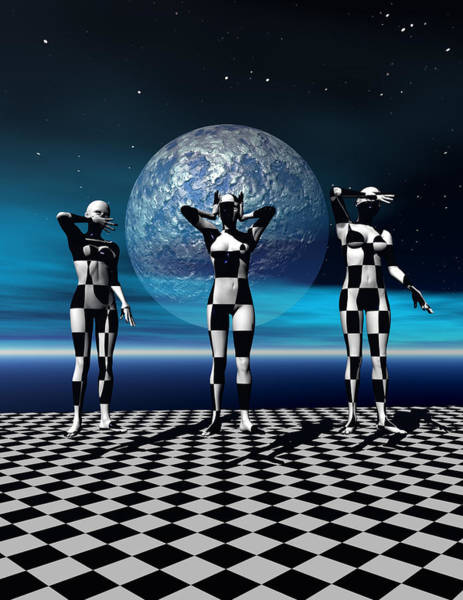 Scifi Digital Art - 3 Graces Can Be Found Anywhere by Claude McCoy