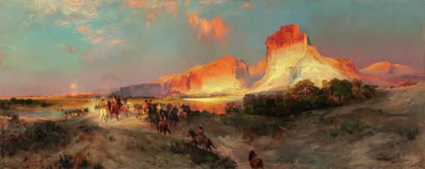Wall Art - Painting - Green River Cliffs, Wyoming by Thomas Moran
