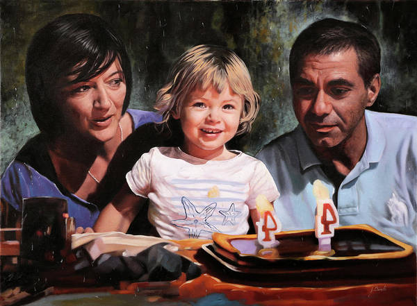 Family Portrait Wall Art - Painting - 3 by Guido Borelli