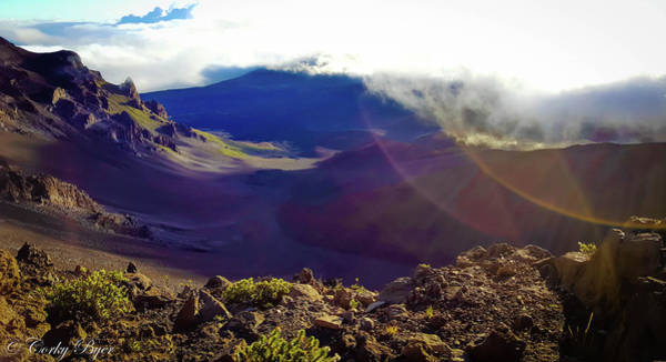Wall Art - Photograph - Haleakala Crater by Corky Byer