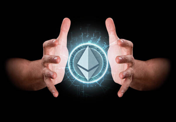 Wall Art - Digital Art - Hands Grasping Cryptocurrency by Allan Swart