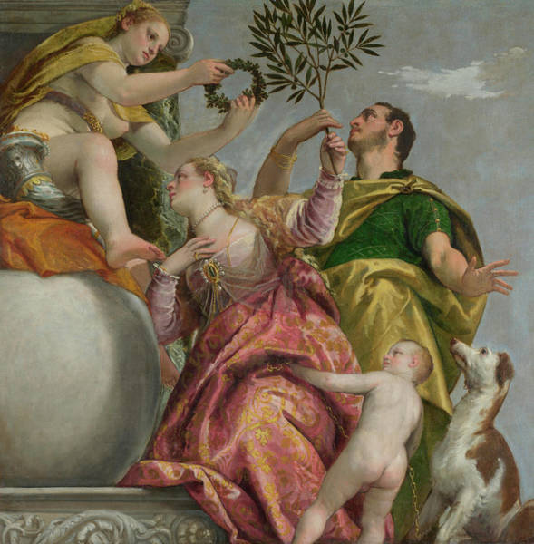 Goddess Of Love Wall Art - Painting - Happy Union by Paolo Veronese