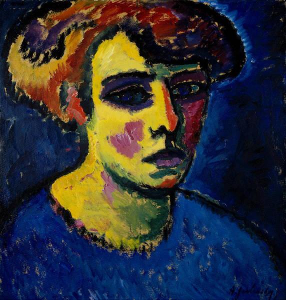 Munich Painting - Head Of A Woman by Alexej von Jawlensky