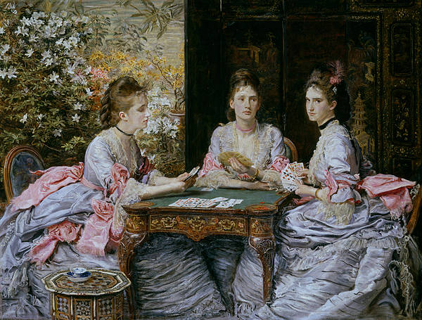 Pre-raphaelite Brotherhood Painting - Hearts Are Trumps by John Everett Millais