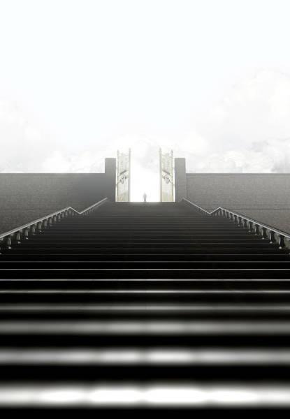 Heaven Digital Art - Heavens Gates And Silhouette by Allan Swart