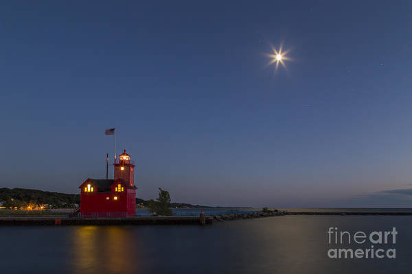 Holland Michigan Wall Art - Photograph - Holland Lighthouse And Channel by Twenty Two North Photography