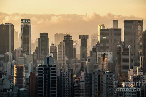 Photograph - Hong Kong Sunset by Didier Marti