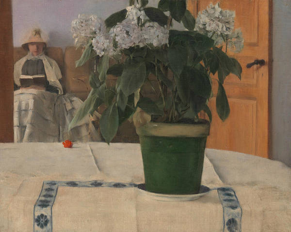 Painting - Hortensia by Fernand Khnopff