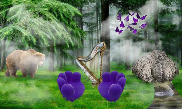 Harp Mixed Media - Imagine  by Marvin Blaine