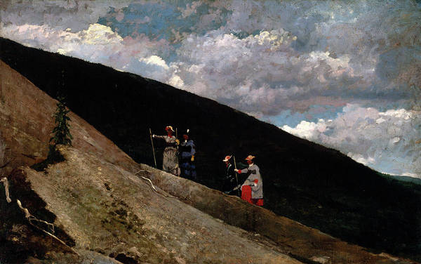 Art In America Painting - In The Mountains by Winslow Homer