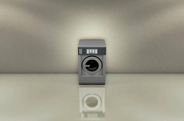 Front Room Digital Art - Industrial Washer In Empty Room by Allan Swart