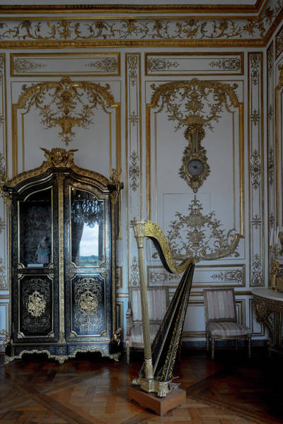 Harp Digital Art - Inside Chantilly Castle France by Carol Ailles