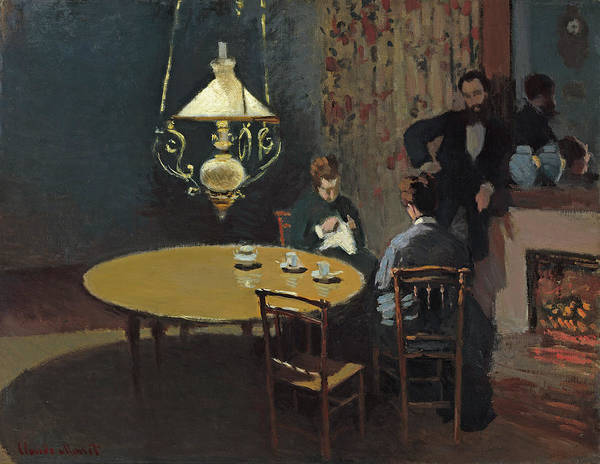 Painting - Interior, After Dinner by Claude Monet