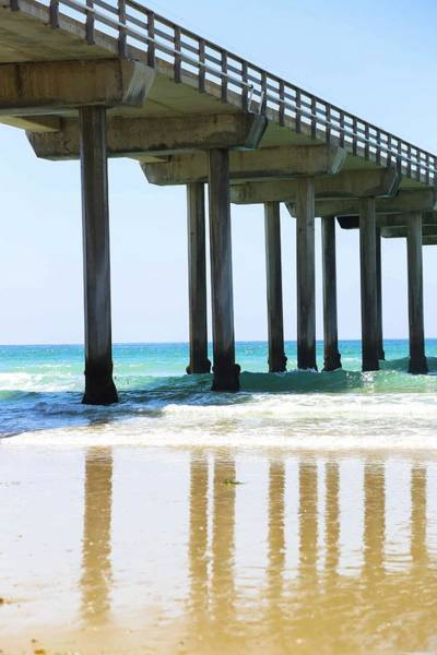 Scripps Pier Photograph - Into The Ocean by Brandy Little