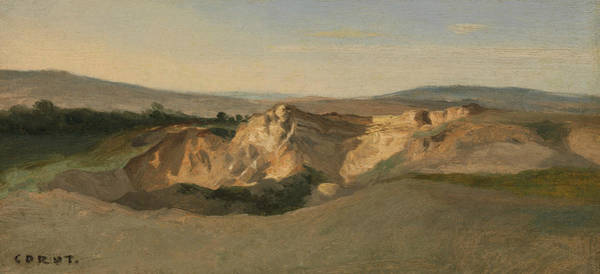 Painting - Italian Landscape by Jean-Baptiste-Camille Corot