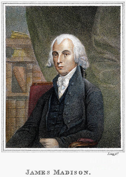 Photograph - James Madison (1751-1836) by Granger