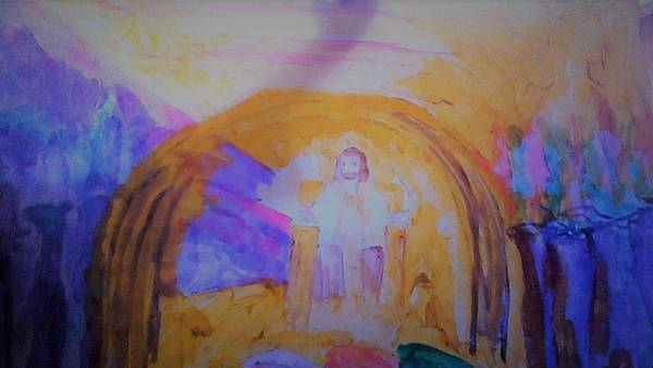 Wall Art - Painting - Jesus Sits On The Throne by Love Art Wonders By God