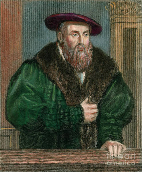 German Renaissance Drawing - Johannes Kepler, 1571-1630 by Granger