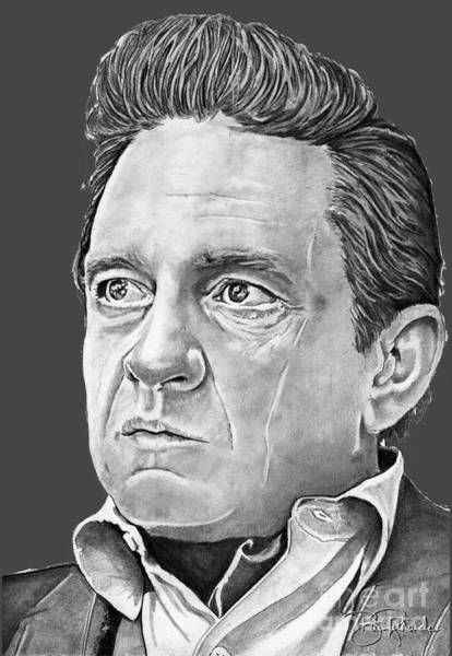 Drawing - Johnny Cash by Bill Richards