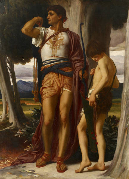 Wall Art - Painting - Jonathan's Token To David by Frederic Leighton