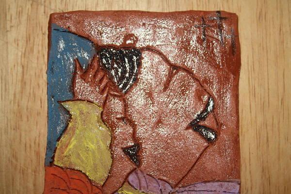 Ceramic Art - Joy - Tile by Gloria Ssali