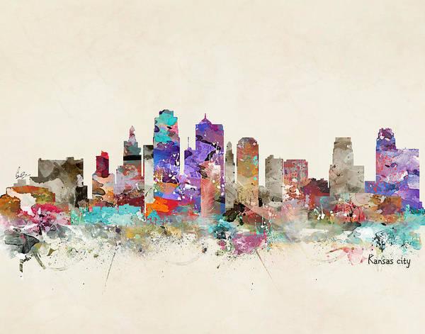 World Cities Painting - Kansas City Missouri by Bri Buckley