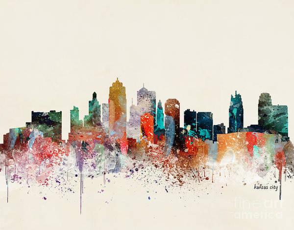Wall Art - Painting - Kansas City Skyline by Bri Buckley