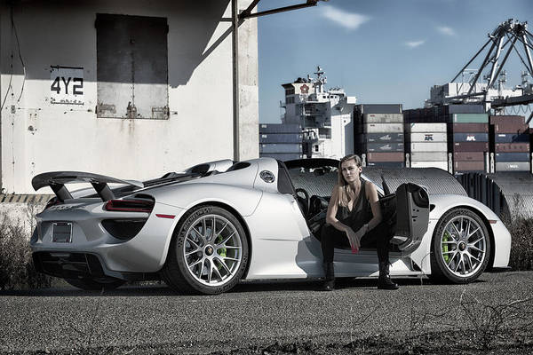 Photograph - #kim And #porsche #918spyder #print by ItzKirb Photography