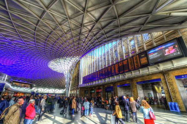 Wall Art - Photograph - Kings Cross Rail Station London by David Pyatt