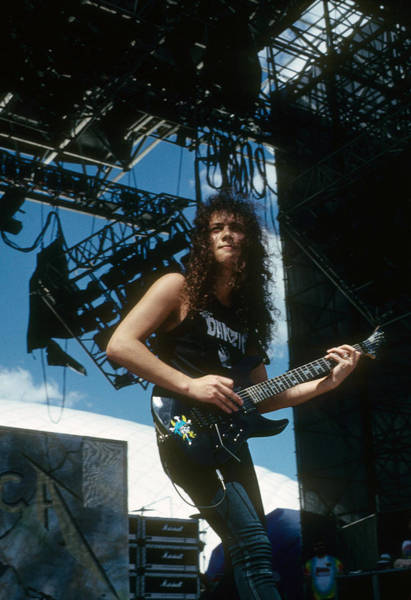 Photograph - Kirk Hammett by Rich Fuscia