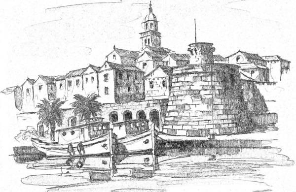 Korcula Croatia Art Print
