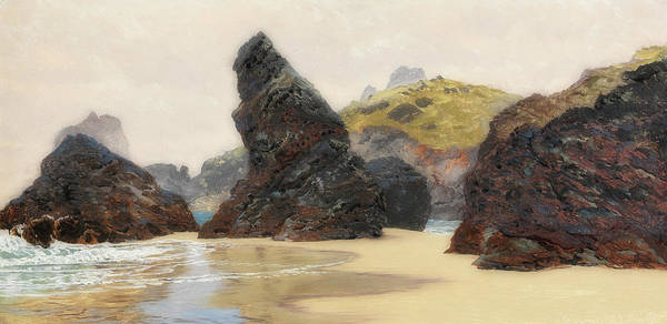 Outcrop Painting - Kynance by John Brett