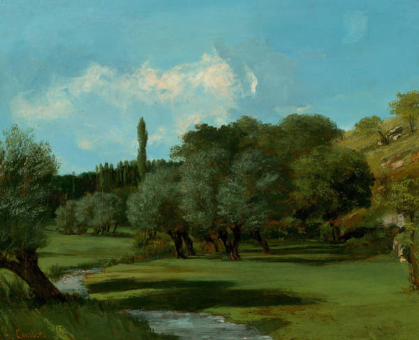 Painting - La Bretonnerie In The Department Of Indre by Gustave Courbet