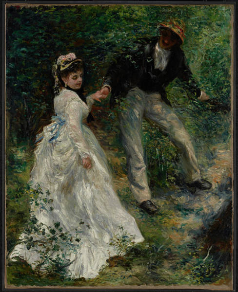 Wall Art - Painting - La Promenade by Pierre-Auguste Renoir