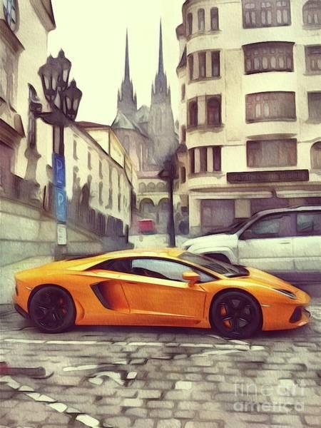 Maserati Painting - Lamborghini by John Springfield